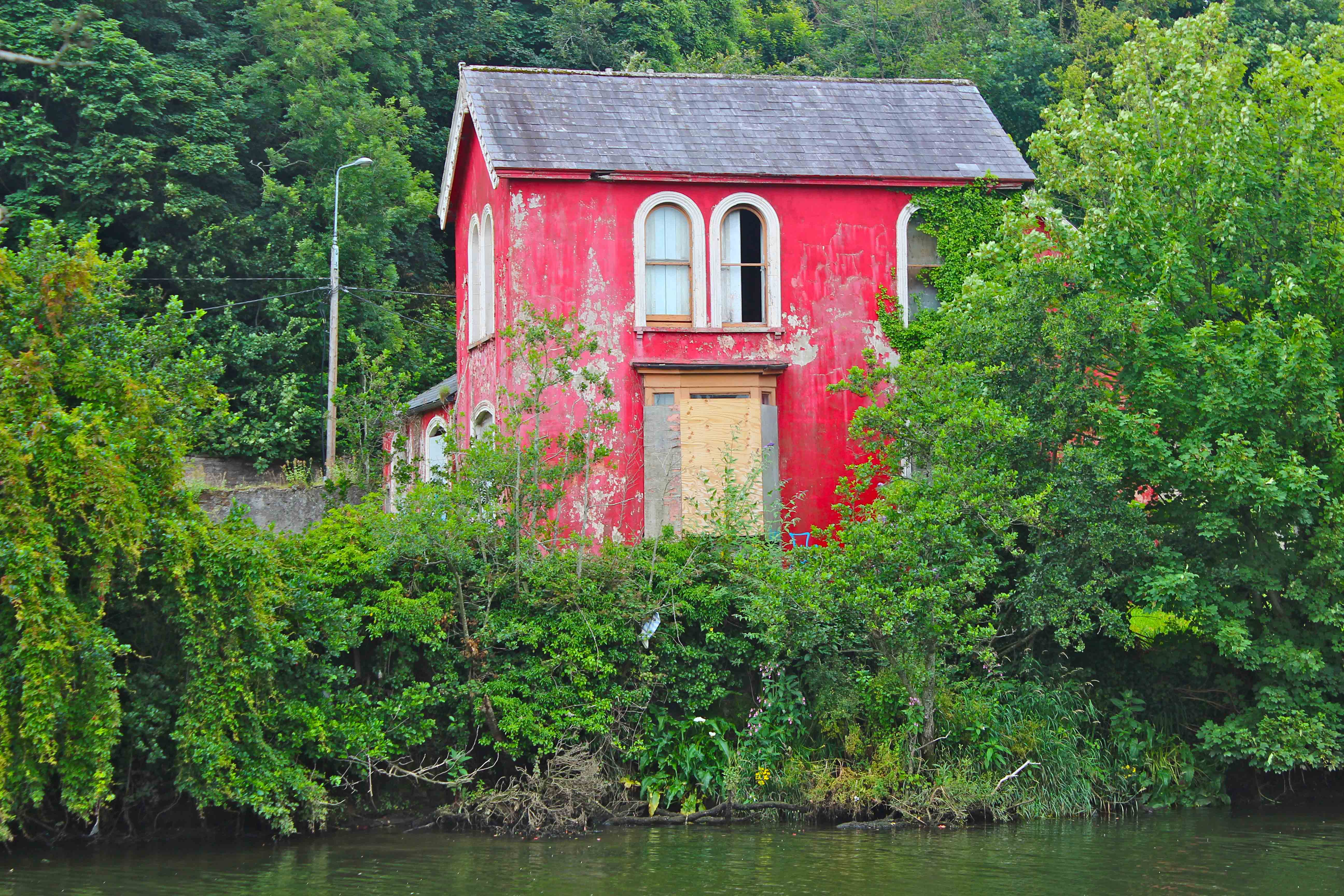 red painted house riverbank cork city - Cork House 2016