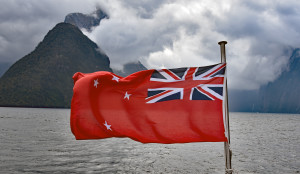 milford sound nz flag